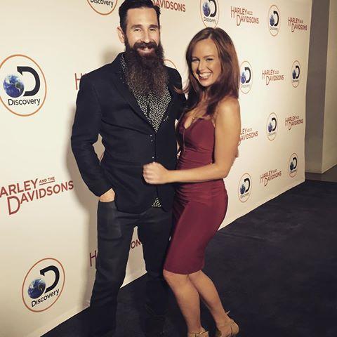 Aaron Kaufman with his girlfriend