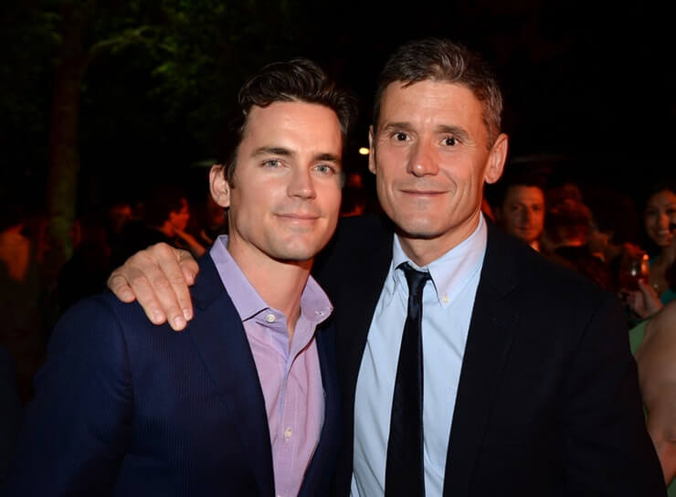 Simon Hall and partner Matt Bomer
