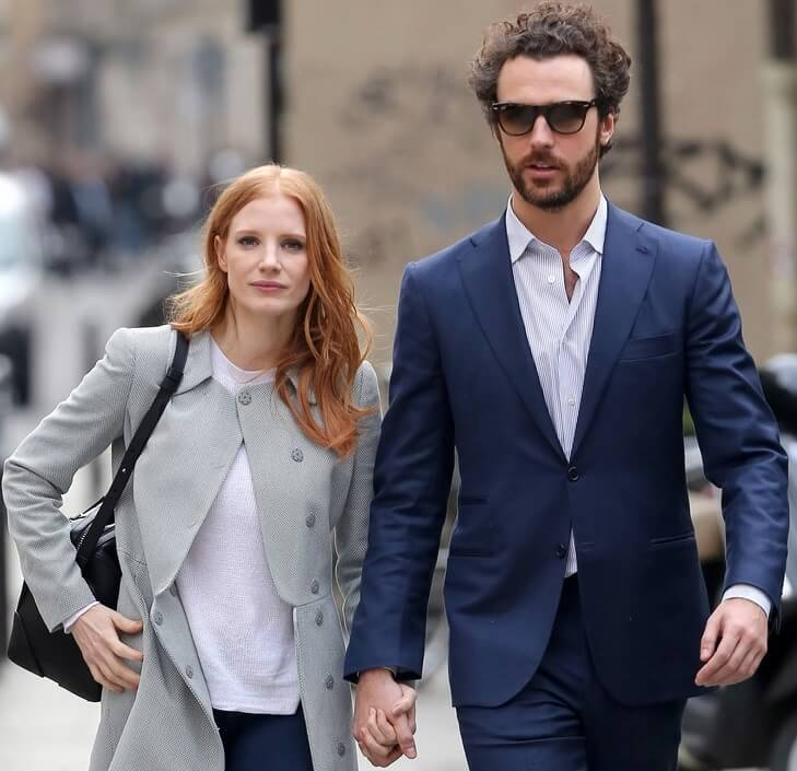 Luca and Wife Jessica Chastain