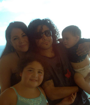 Chris Perez and Vanessa Perez family picture