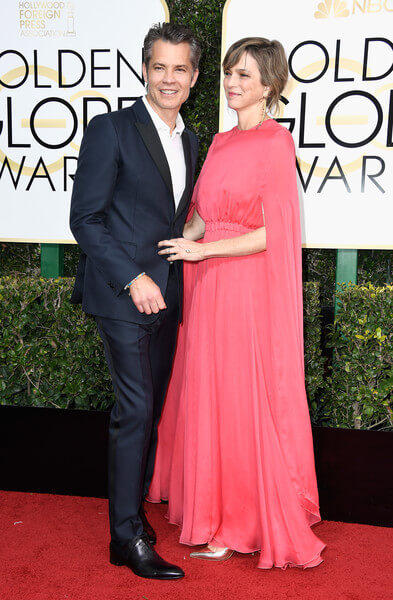 Alexis Knief and her husband Timothy olyphant