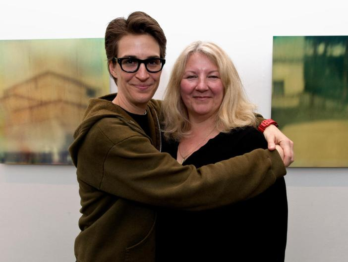 Susan Mikula and Racheal Maddow