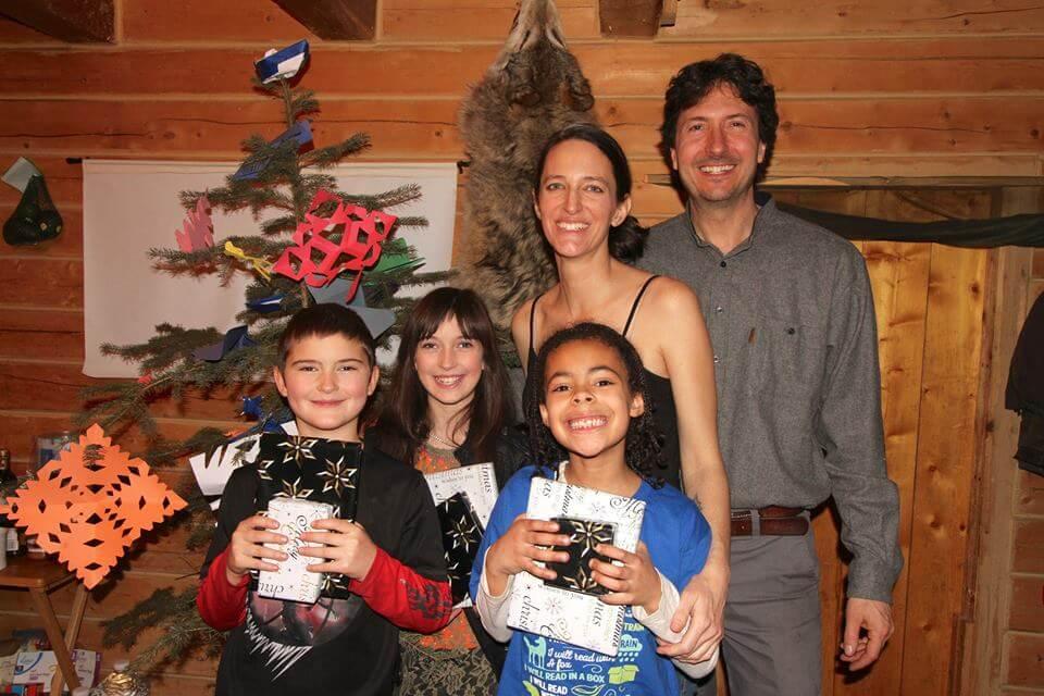 Glenn Villeneuve with his partner like wife and children