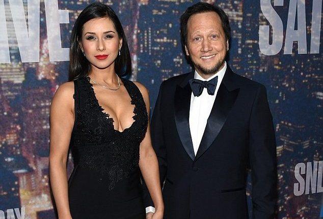 Rob Schneider and his wife Patricia Azarcoya Schneider