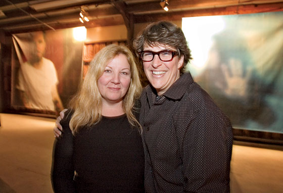 Susan Mikula and Rachel Maddow