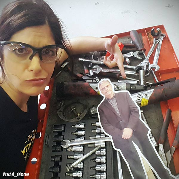 All Girls Garage Rachel De Barros on her work place