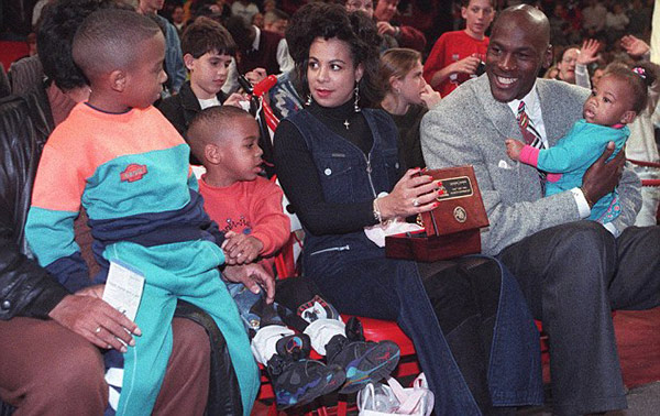 Michael Jordan family with kids