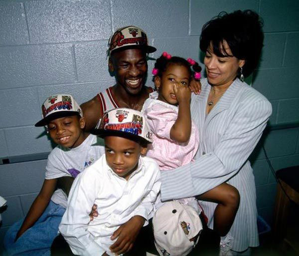 Ysabel Jordan , father Michael Jordan and his wife family
