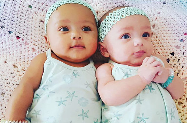 Picture of two Baby refers to Ysabel Victoria they are twince