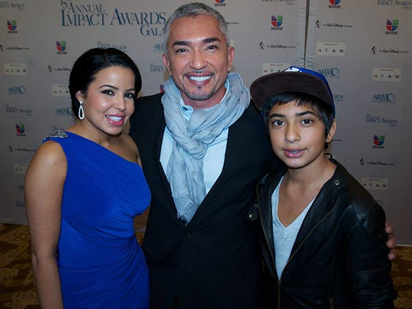 Cesar Millan with girlfriend, Jahira Dar younger son, Calvin.