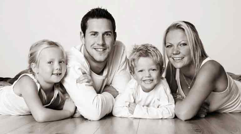 Louise Anstead and ex-husband Ant Anstead with their children