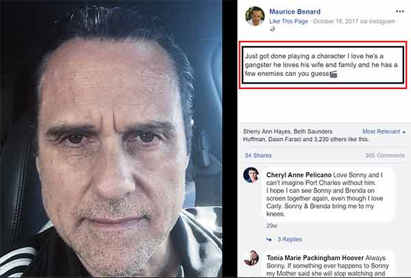 Maurice Benard leaving General Hospital