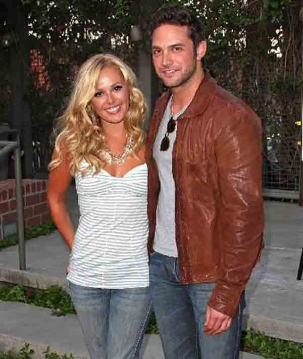 Brandon Barash and Natalie Hall