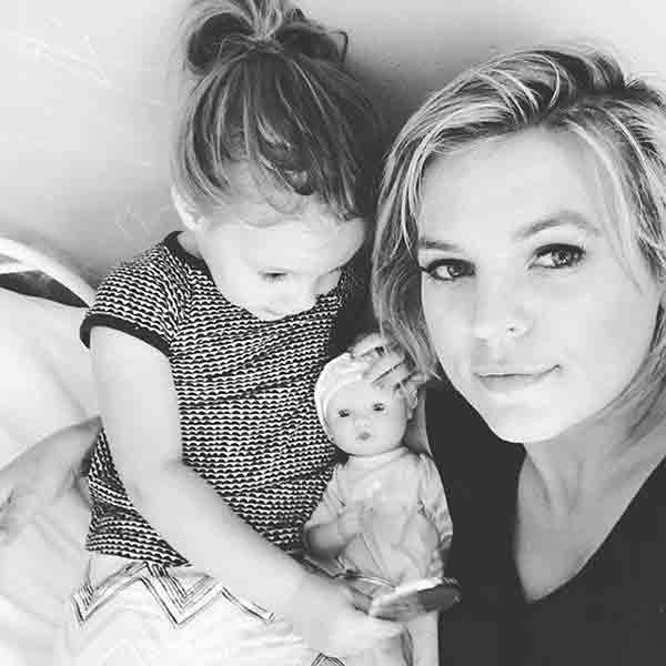 Kirsten Storms with Daughter