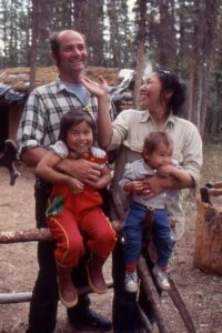 Image of Heimo Korth with her husband and with their kids