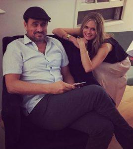 Image of Maggie Lawson with her husband Ben Koldyke