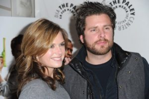 Image of Maggie Lawson with her partner James Roday