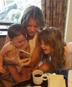 Michelle Stafford playing with her kids Jameson Jones Lee Stafford and Natalia Scout Lee Stafford