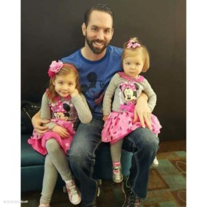 Image of Nick Groff with their kids Annabelle and Chloe