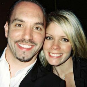 Image of Nick Groff with his wife Veronique Roussel Groff.