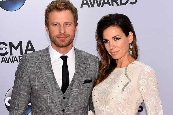 Image of Dierks Bentley with his wife Cassidy Black