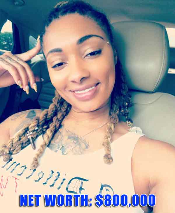 """Image of Dutchess from Black Ink Crew who has a net worth of around $800,000"