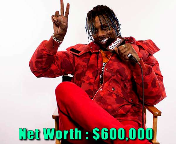 Image of Rapper Famous Dex net worth is $600,000
