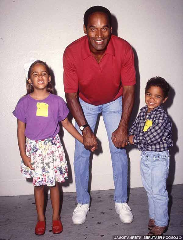 Image of Justin Ryan with his father O. J. Simpson and his sister Sydney Brooke Simpson