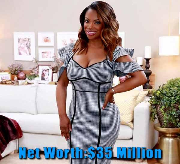 Image of The Realhouse wife cast Kandi Burruss net worth is $35 million