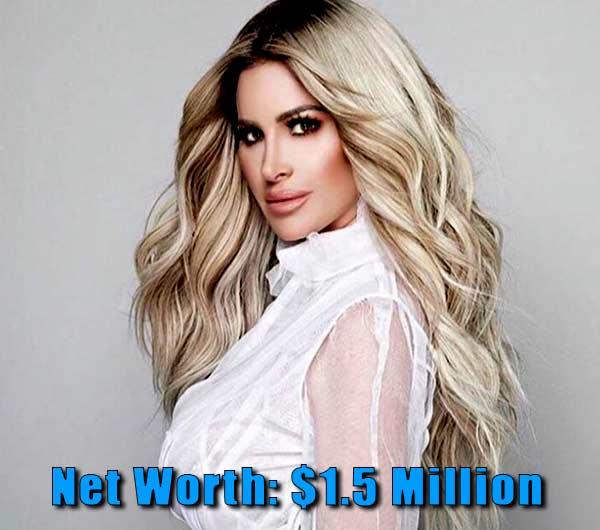 Image of The Realhouse wife cast Kim Zolciak-Biermann net worth is $1.5 million