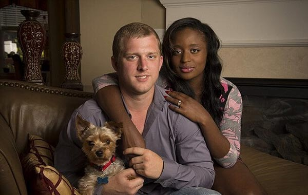 Image of Kyle Chrisley with his wife Alexus Whilbly