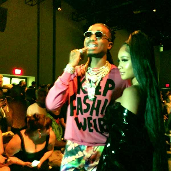 Image of Quavo with her girlfriend Saweetie