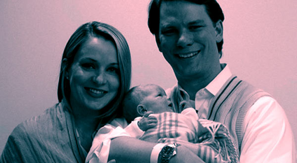 Image of Journalist Sandra Smith with her husband John Connelly and their baby