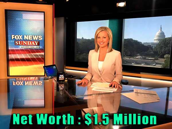 Image of Journalist Sandra Smith net worth is $1.5 million