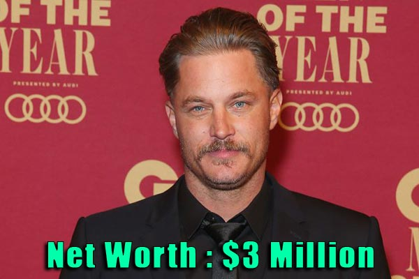 Image of Actor, Travis Fimmel net worth is $3 million