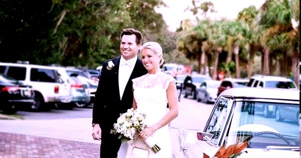 Image of Footballer, Will Proctor with his wife Ainsley Earhardt