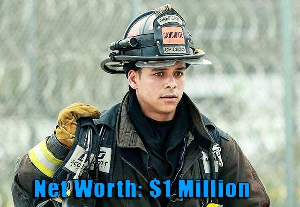 Image of Chicago Fire cast Charlie Barnett net worth is $1 million