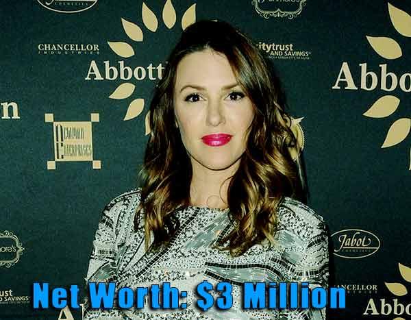 Image of Actor, Elizabeth Hendrickson net worth is $3 million