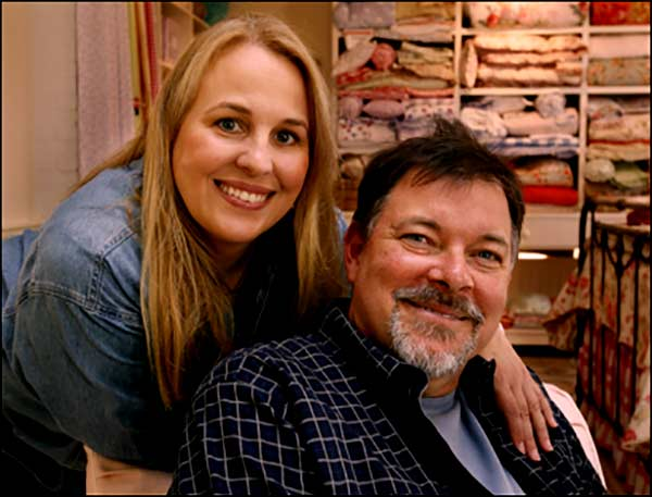 Image of Genie Francis with her husband Jonathan Frakes