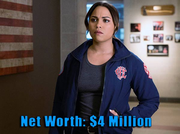 Image of Chicago Fire cast Monica Raymund net worth is $4 million