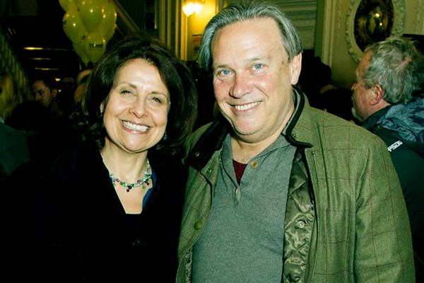 Image of Rebecca Front with her husband Phil Clymer