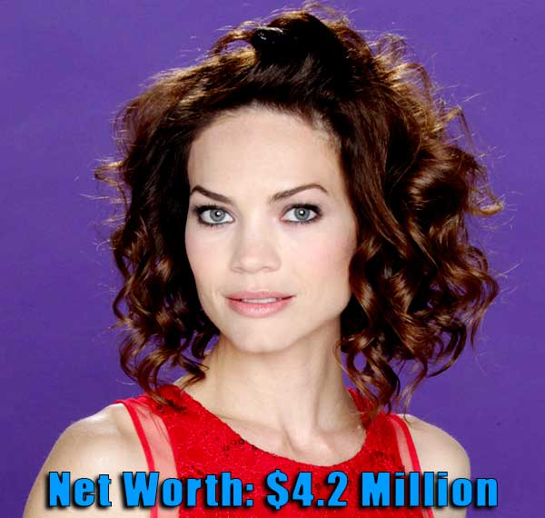 Image of Actor, Rebecca Herbst net worth is $4.2 million
