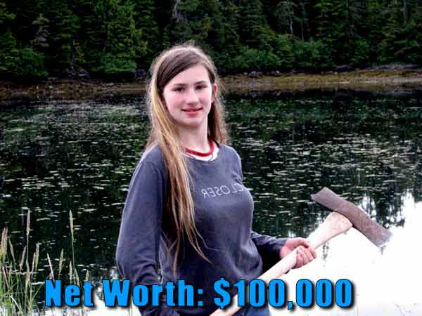 Image of Alaskan Bush People cast Snow Bird Brown net worth is $100,000