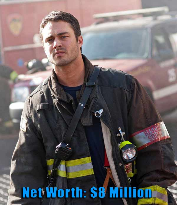 Image of Chicago Fire Cast Taylor Kinney net worth is $8 million