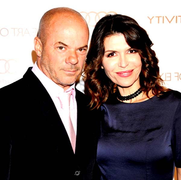 Image of Finola Hughes with her husband Russell Young