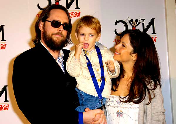 Image of Lisa LoCicero with her husband Michael Patrick Jann and her son Lukas Jann