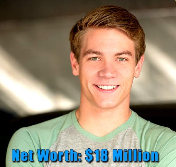 Image of Lucas Brentley Adams net worth is $18 million