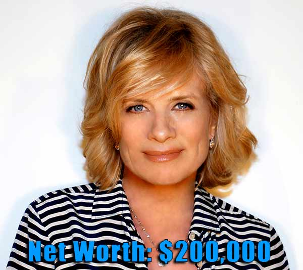 Image of Actor, Mary Beth Evans net worth is $200,000