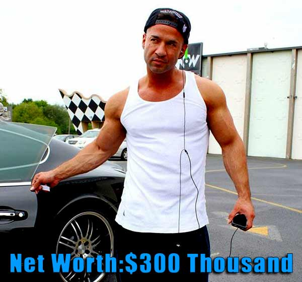 Image of Tv Personality, Mike Sorrentino net worth is $300 thousand dollars