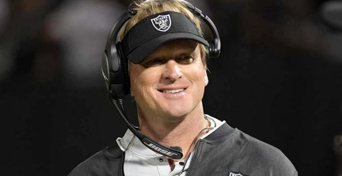 Image of Jon Gruden Is Married to wife Cindy Gruden. Jon Gruden Net Worth, Salary, And Age.